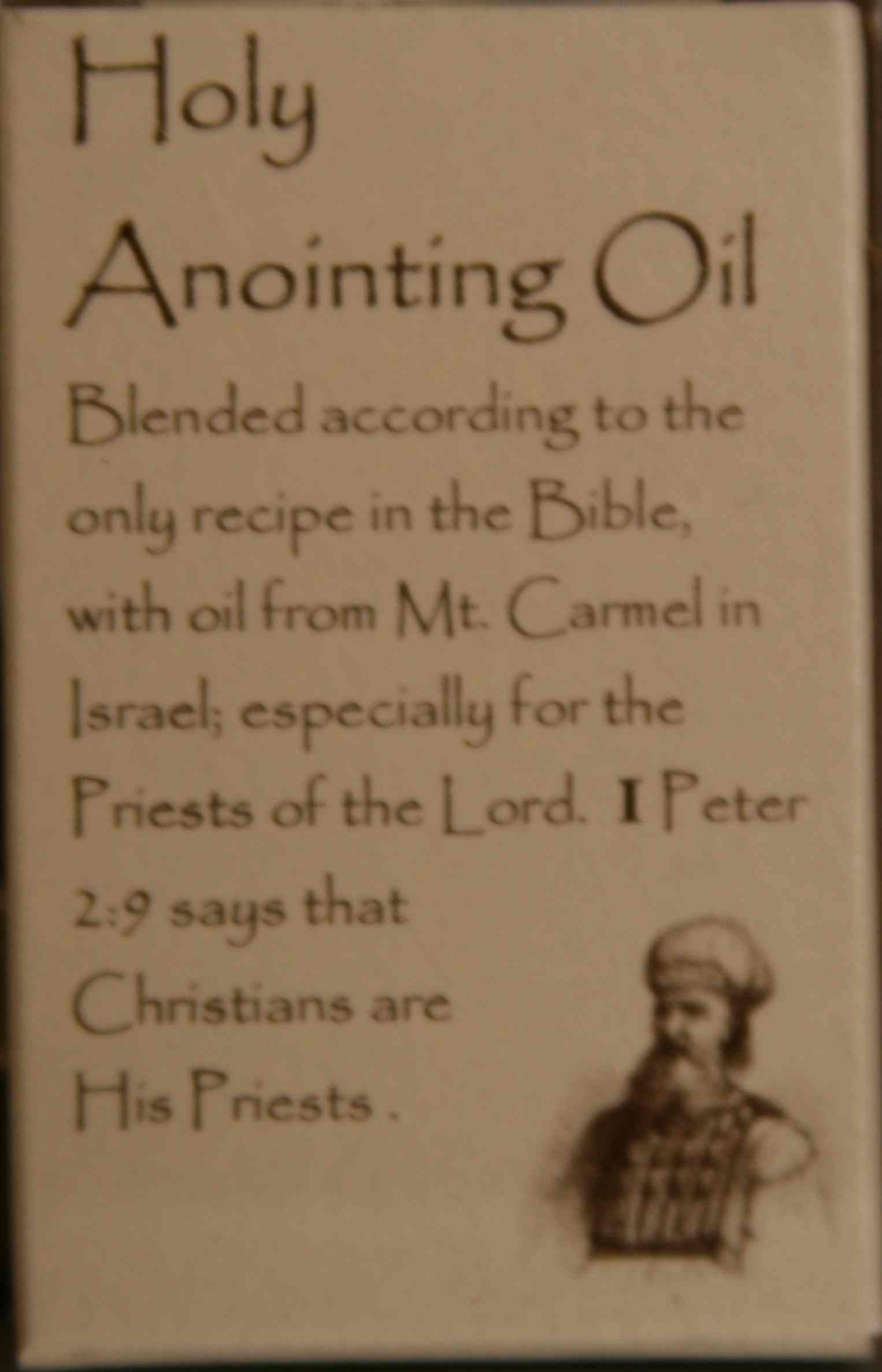 how to make holy oil