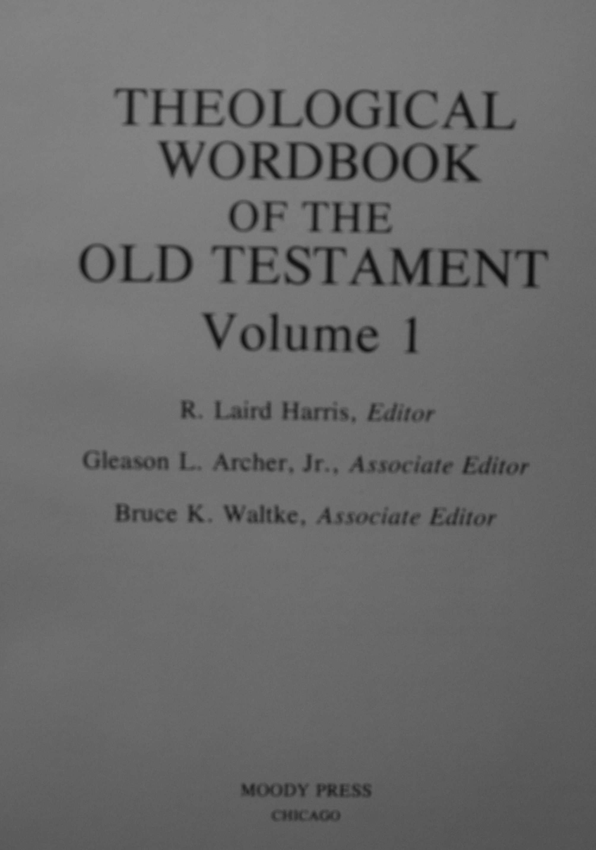 theological dictionary of the old testament